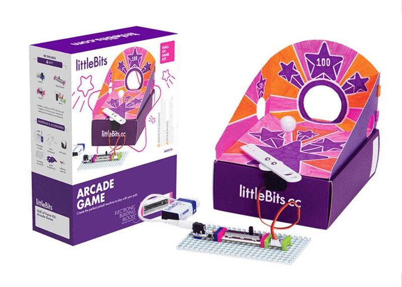 littleBits Arcade Game package and pinball machine invention.