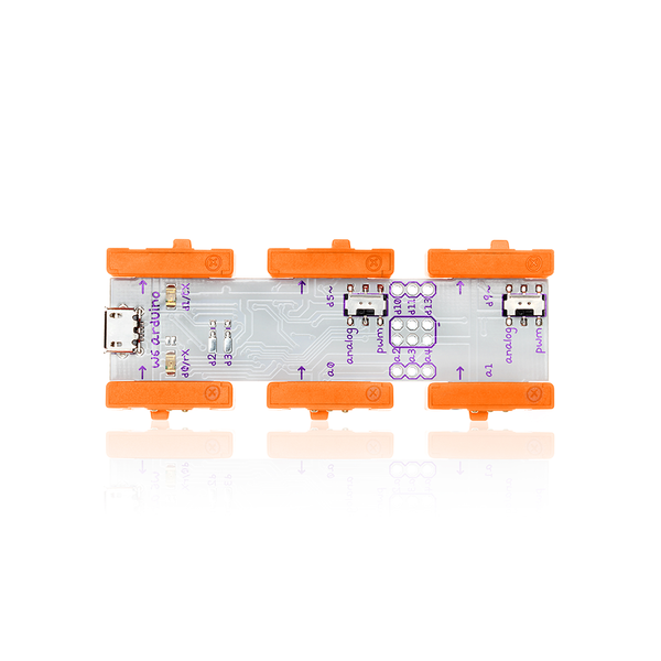 Orange littleBits w6 arduino.