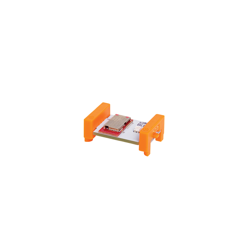 Orange littleBits w30 Bluetooth Low Energy.