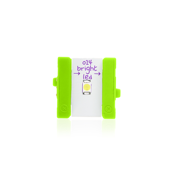 Green littleBits o14 bright LED.