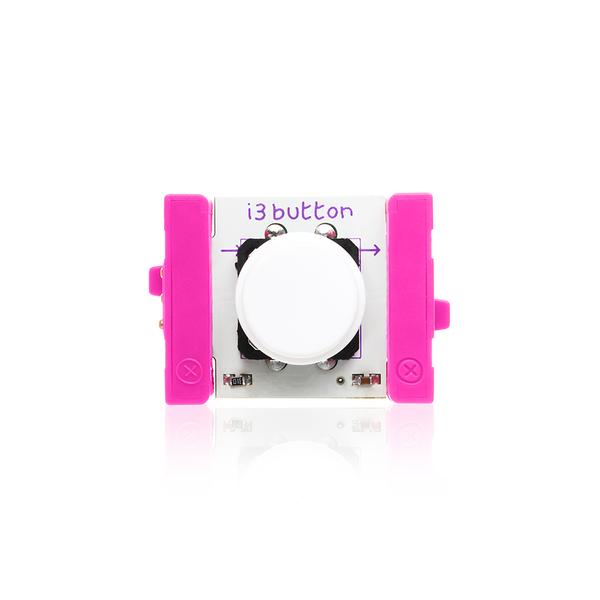 Pink littleBits i3 button.
