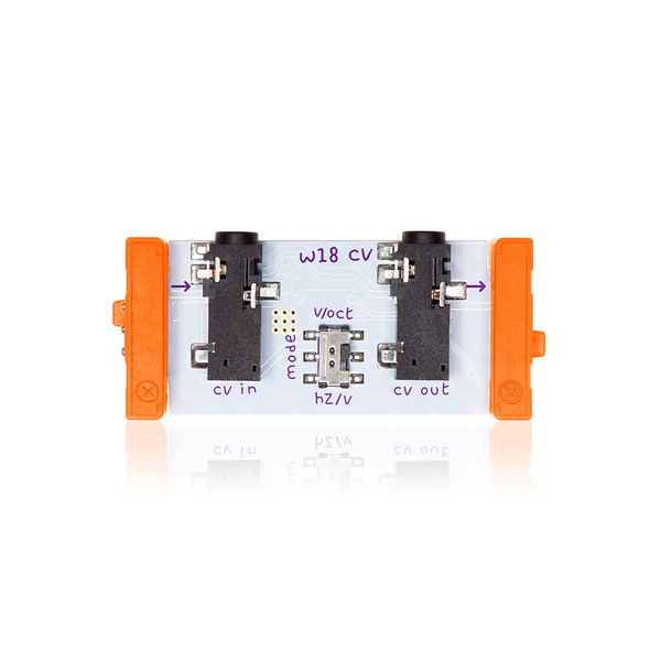 Orange littleBits w18 control voltage.