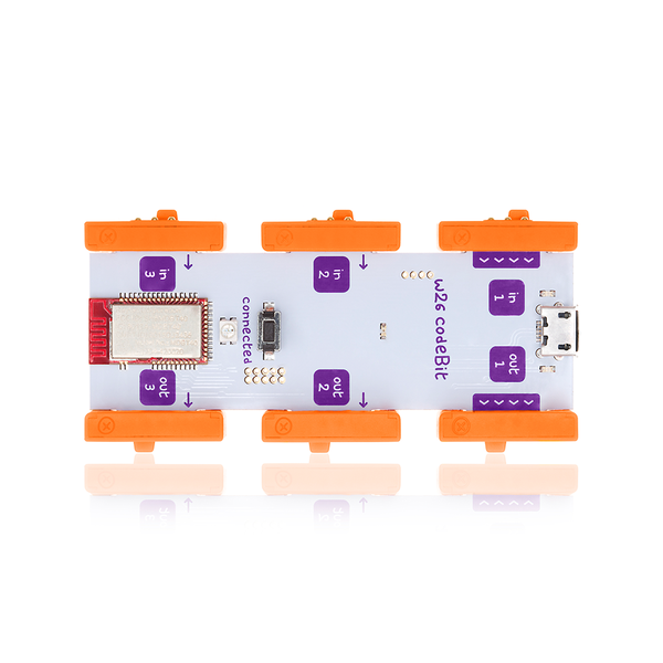 Orange littleBits w26 codeBit.