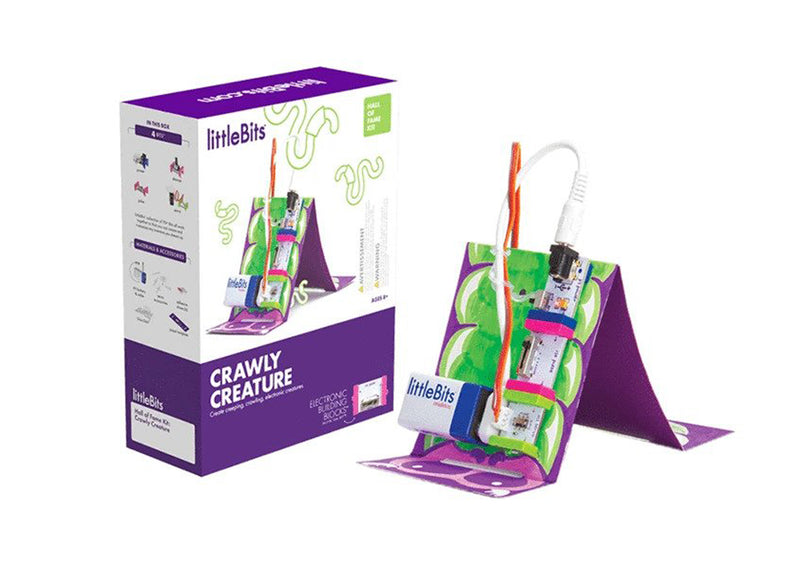 littleBits Crawly Creature Hall of Fame Starter Kit packing.