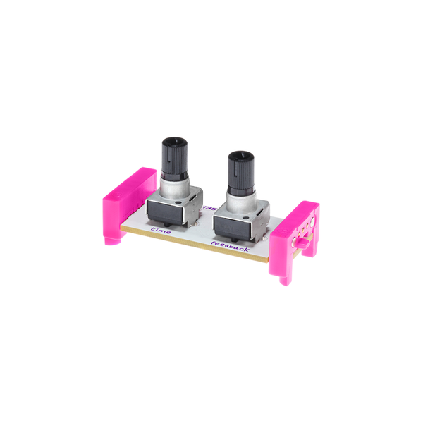 Pink littleBits i35 delay.