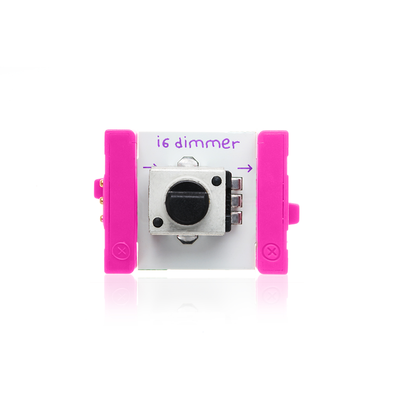 Pink littleBits i6 dimmer.