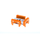 Orange littleBits w4 AND bit side view.