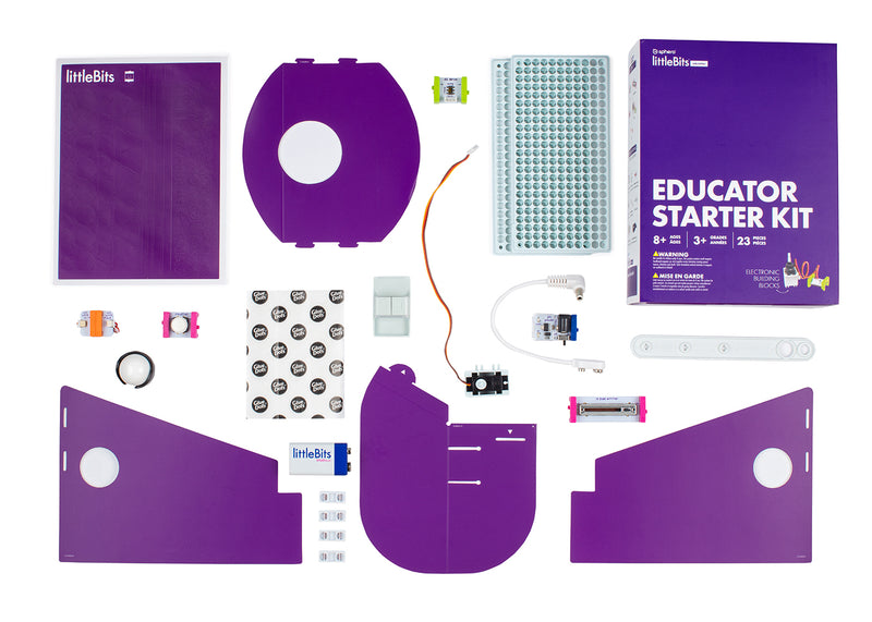 littleBits Educator Starter Kit contents.