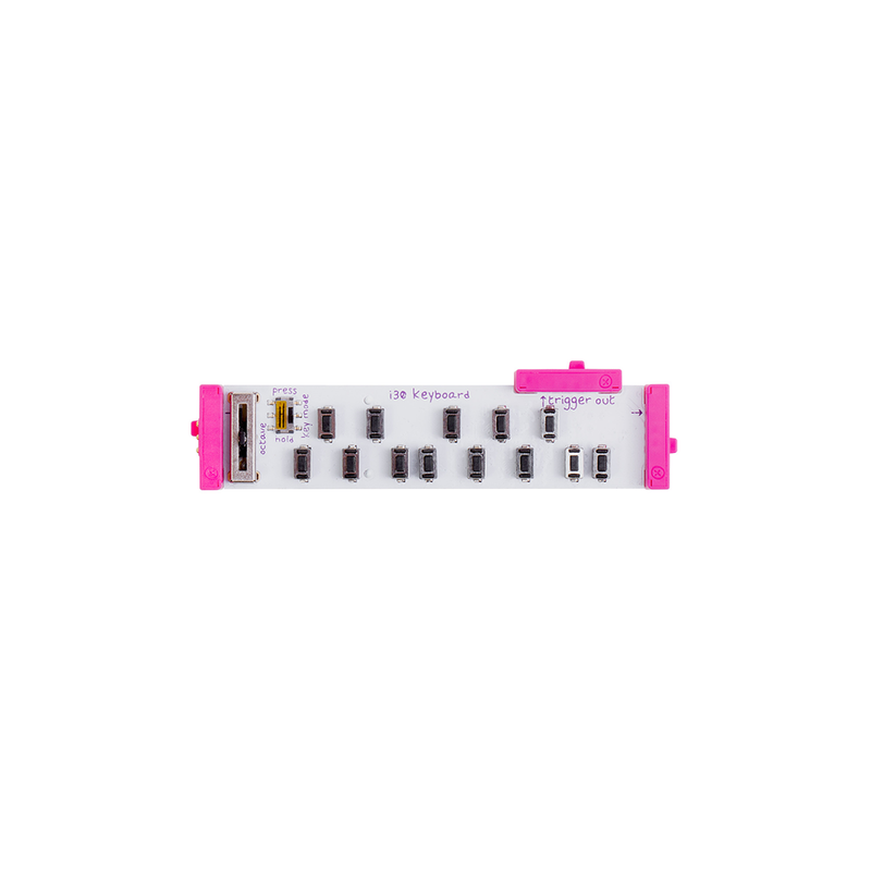 Pink littleBits i30 keyboard bit.
