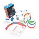 Mini Activity Kit with construction set, activity cards, robotic ball cover, USB cable, pins and cones.
