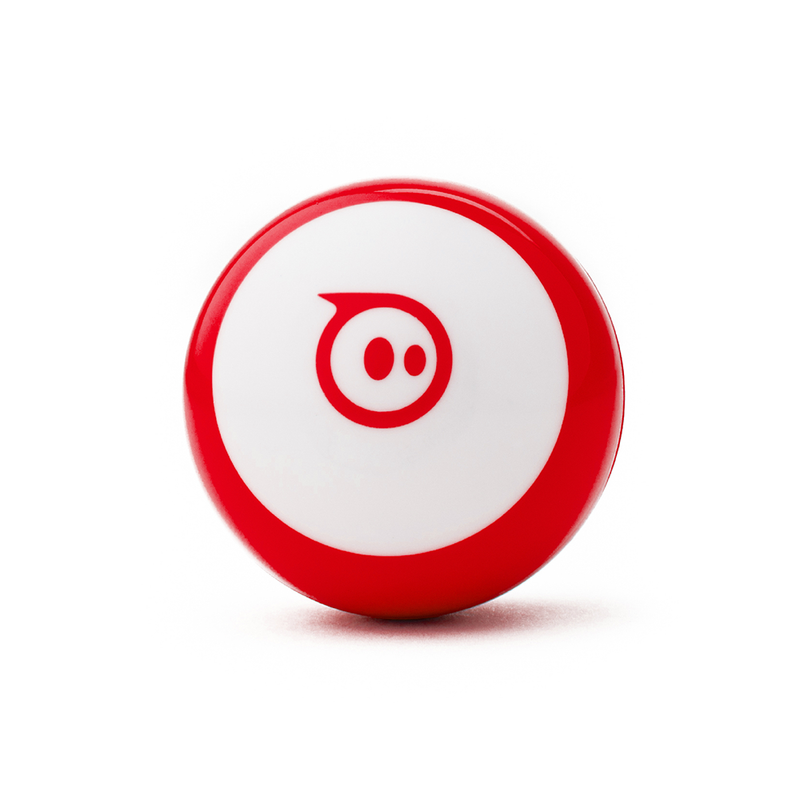 Sphero Mini STEAM robot with a red shell.