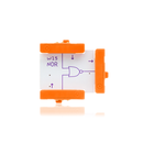 Orange littleBits w15 NOR bit.