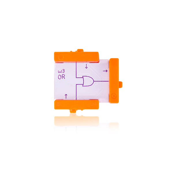 Orange littleBits w3 OR bit.