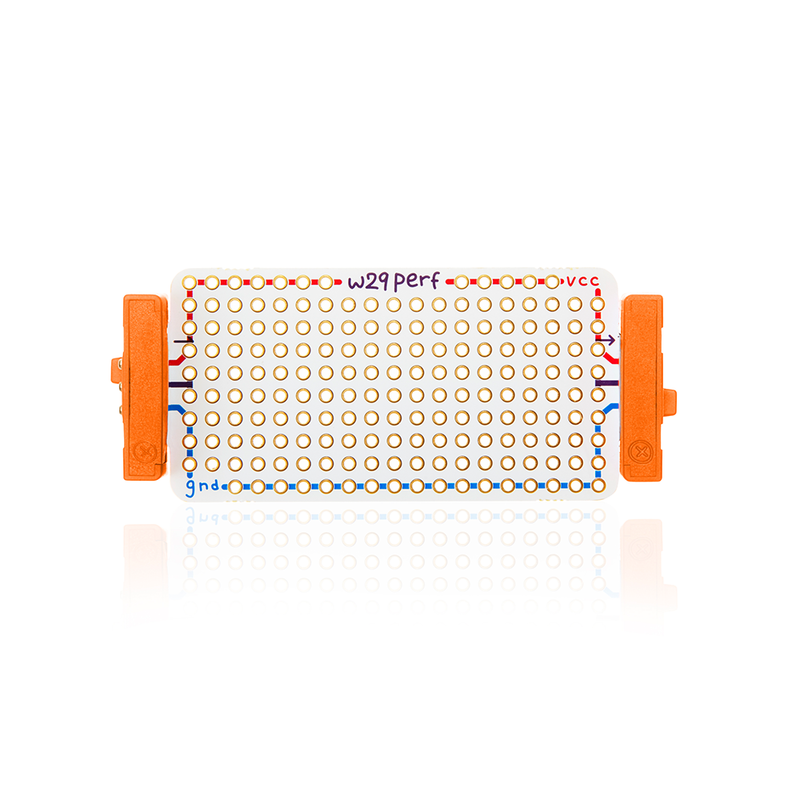 Orange littleBits w29 perf bit.