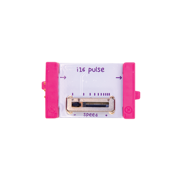 Pink littleBits i16 pulse bit.