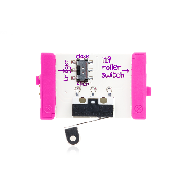 Pink littleBits i19 roller switch bit.