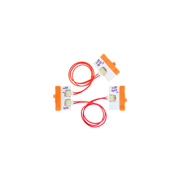 Orange littleBits w19 split bit.