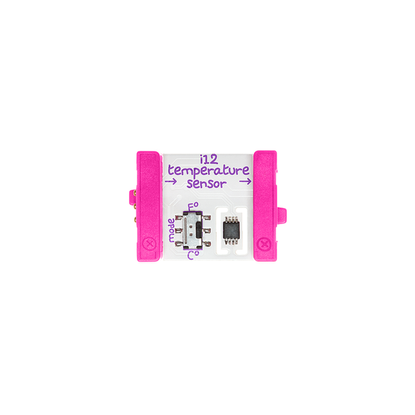 Pink littleBits i12 temperature sensor bit.