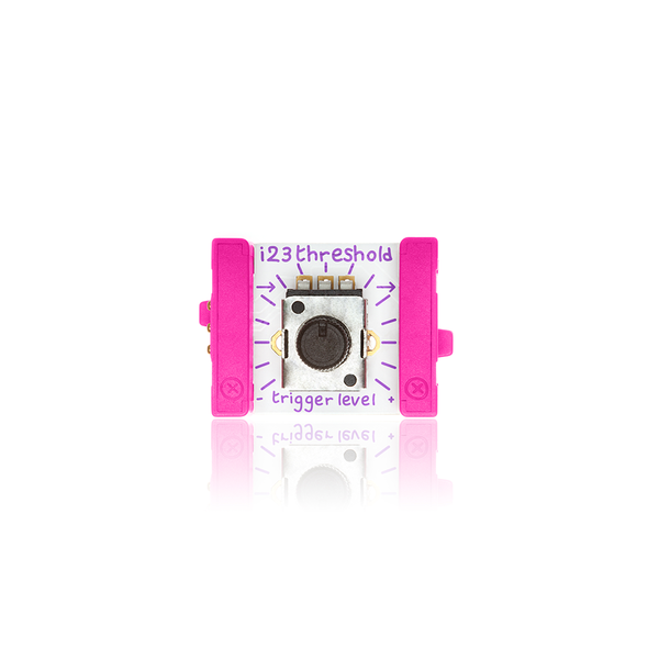 Pink littleBits i23 threshold bit.