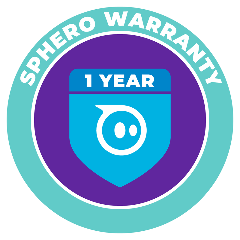Sphero Warranty 1 year badge.