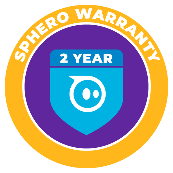 Sphero Warranty 2 year badge.