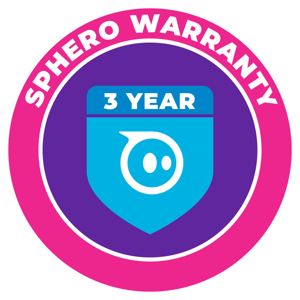 Sphero Warranty 3 year badge.