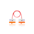 Orange littleBits w1 wire bit.