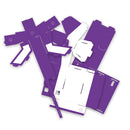 Purple littleBits Base Inventor Template pieces.