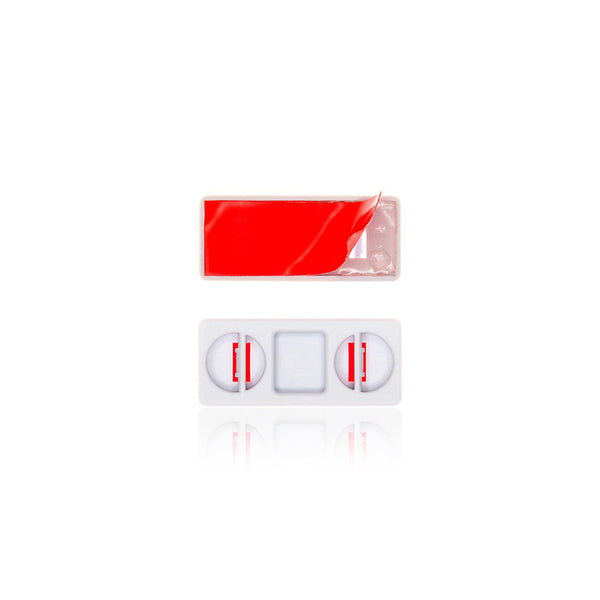 Adhesive red littleBits bitShoes.