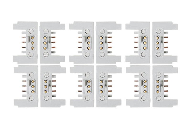 Group of white littleBits bitSnaps.