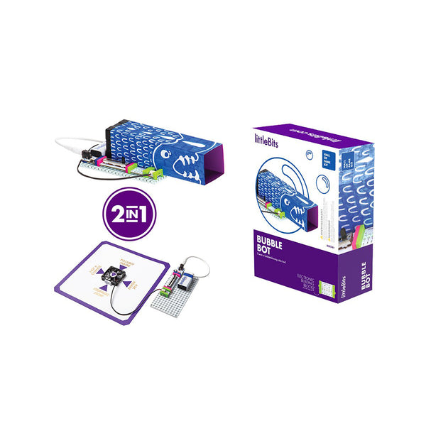 littleBits bubble bot product and packaging.