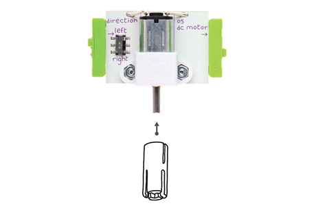 littleBits motorMate diagram with bit.