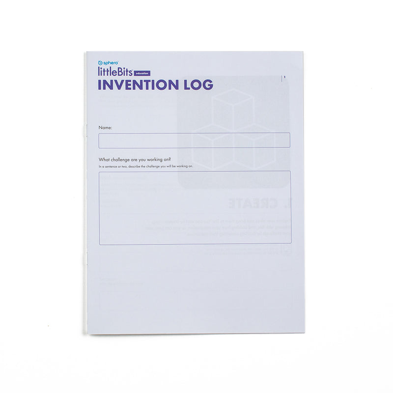 Cover of the Invention Log booklet.