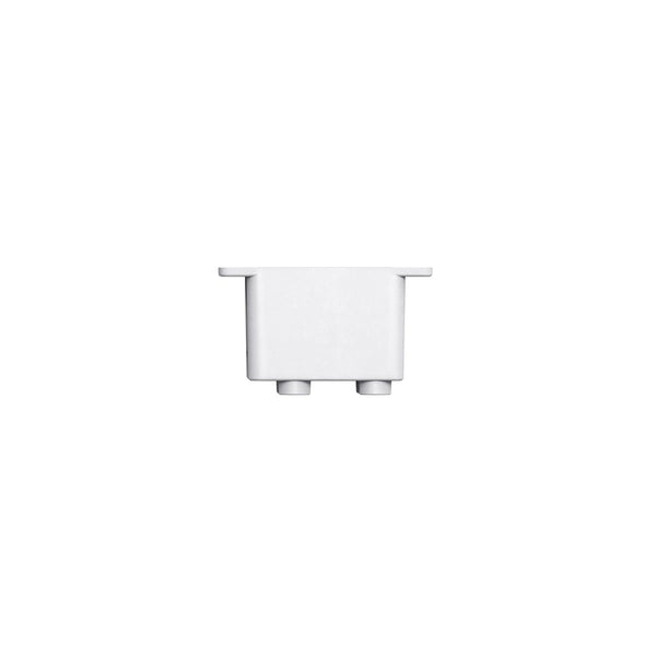 White littleBits Servo Mount Bucket.