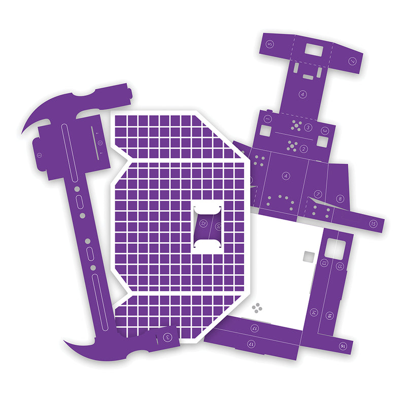 Purple littleBits Space Rover Template cutouts.