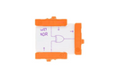 Orange littleBits w17 XOR bit.