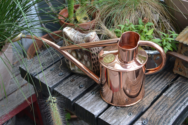 Haws Watering Cans 1L - Copper on table