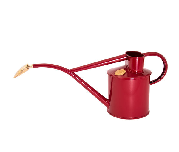 Haws Watering Can 1L in burgundy red
