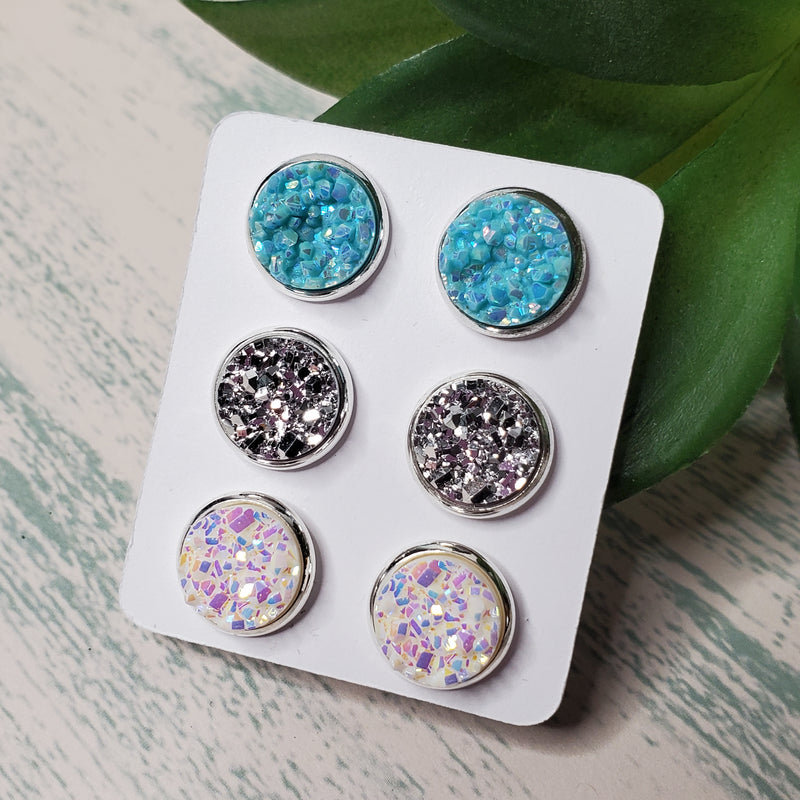 Bright Blue Sky Triple Earring Set