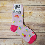 Girl Power Shimmer Crew Socks - Adult