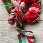 Tropical Floral Scrunchies with Tie - 4 Colors