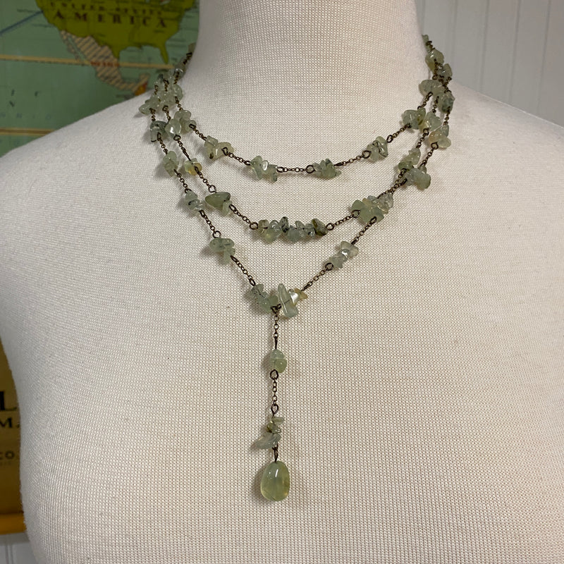 Multi-strand Adventurine Semi-precious Stone Necklace