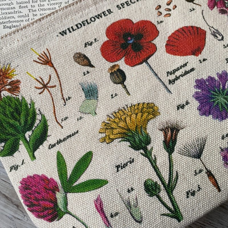 Wildflower Botanical Vintage Pouch
