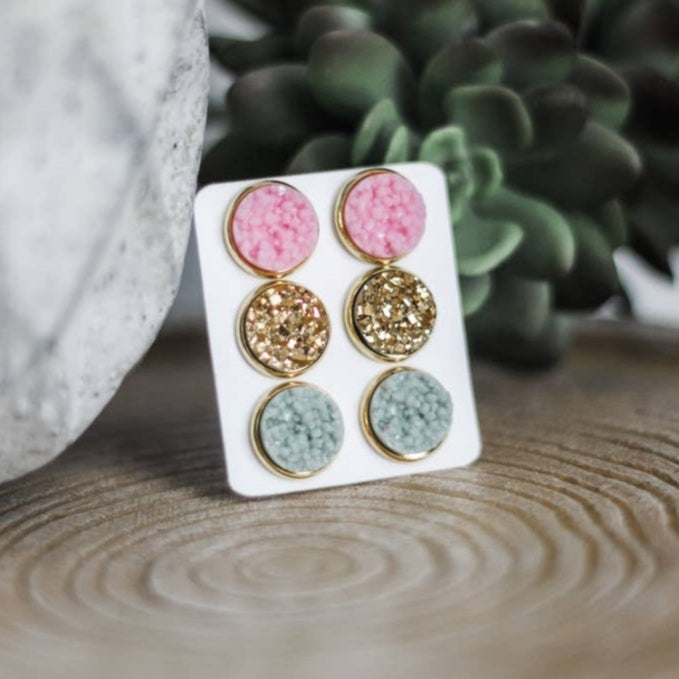 Evening Sands Triple Earring Set
