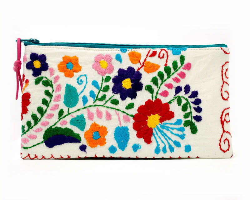 mexican embroidered pouch