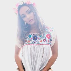 Mexican Embroidered Blouse Eli Linen