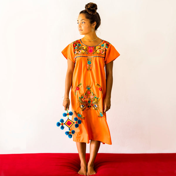 Mexico Dress Orange