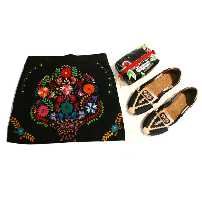 mexican skirt in black