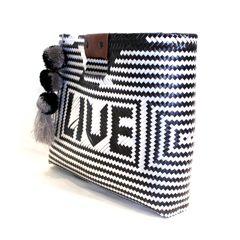 black and white bag