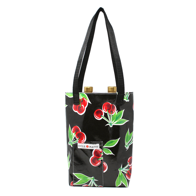oilcloth wine bag